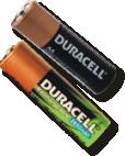 AA 碱性电池或Ni-MH Aa可充电电池